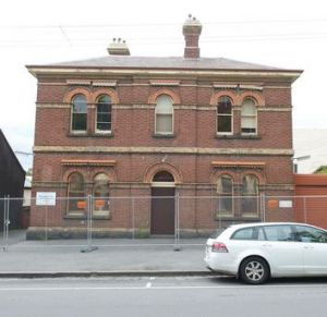 Come and get me, copper! The old Carlton police station in Drummond Street suddenly stripped of copper.