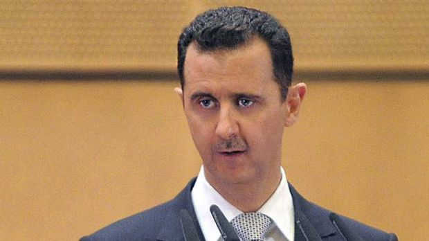 Strong words ... Syrian President Bashar al-Assad.