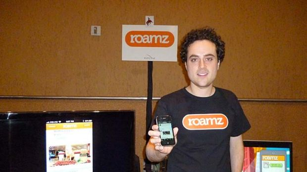 Sydney entrepreneur Jonathan Barouch, founder of the Roamz app.
