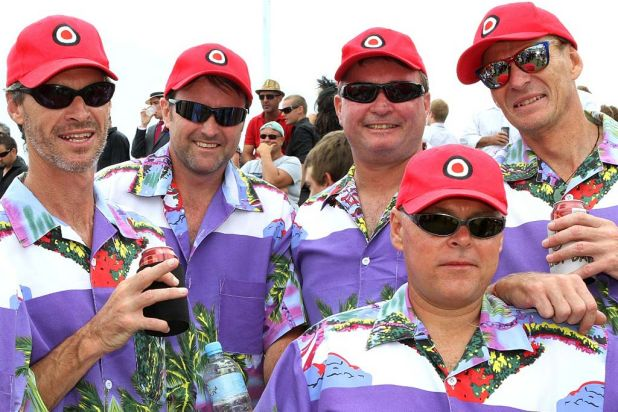 Blokes go tropical at the Magic Millions.
