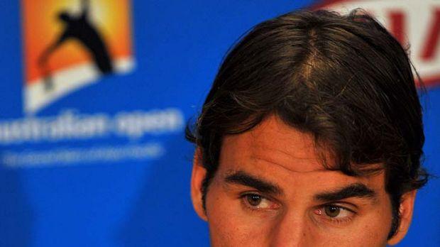 Staying silent ... Roger Federer.