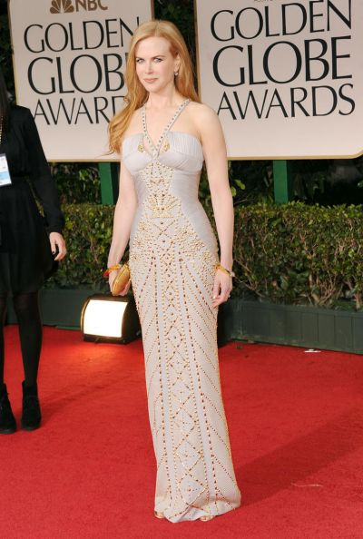 Actress Nicole Kidman arrives at the 69th Annual Golden Globe Awards.