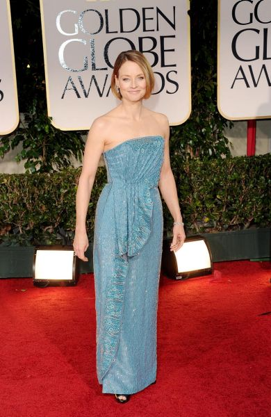 Jodie Foster arrives at the 69th Annual Golden Globe Awards.
