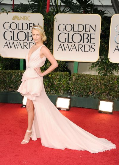 Charlize Theron arrives at the 69th Annual Golden Globe Award.