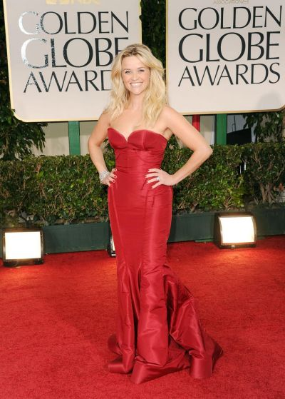 Reese Witherspoon arrives at the 69th Annual Golden Globe Awards.