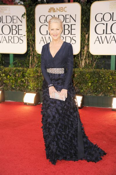 Helen Mirren arrives at the 69th Annual Golden Globe Awards.