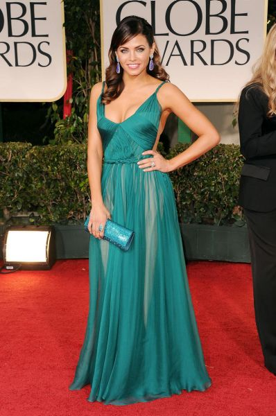 Jenna Dewan arrives at the 69th Annual Golden Globe Awards.
