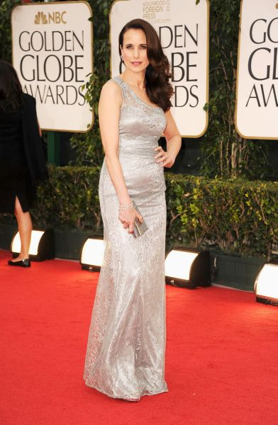 Andie MacDowell arrives at the 69th Annual Golden Globe Awards.