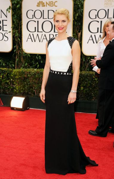 Claire Danes arrives at the 69th Annual Golden Globe Awards.