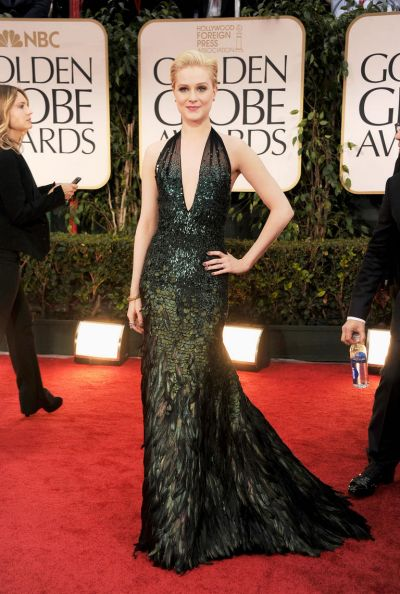 Evan Rachel Wood arrives at the 69th Annual Golden Globe Awards.
