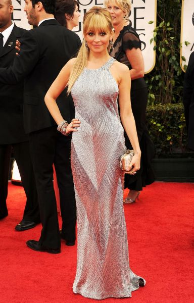 TV personality Nicole Richie arrives at the 69th Annual Golden Globe Awards.