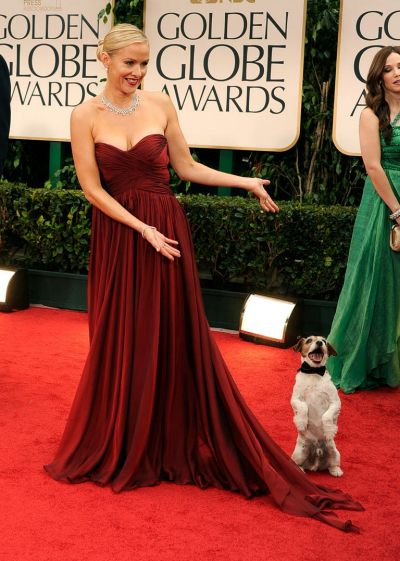 Actress Penelope Ann Miller arrives at the 69th Annual Golden Globe Awards.