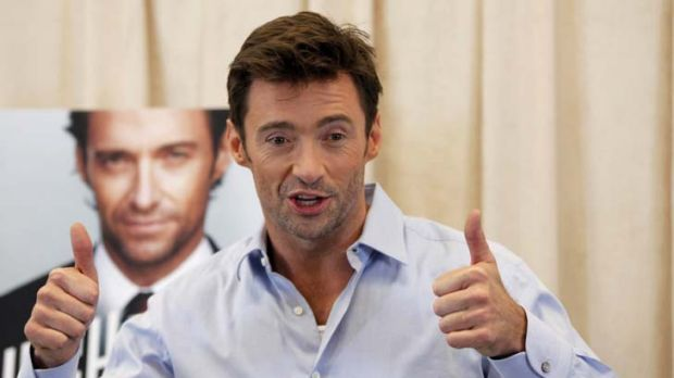 Thumbs up ... from Hugh Jackman.