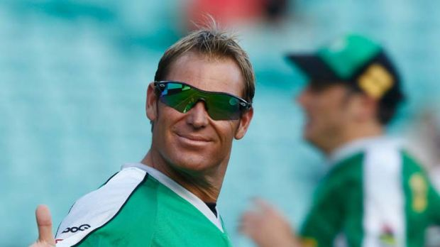 Sued ... Shane Warne accused Mathew Hollingsworth of thumping his car.
