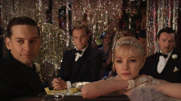 Added dimension ... (left to right) Tobey Maguire, Leonardo DiCaprio, Carey Mulligan and Joel Edgerton in <i>The Great ...