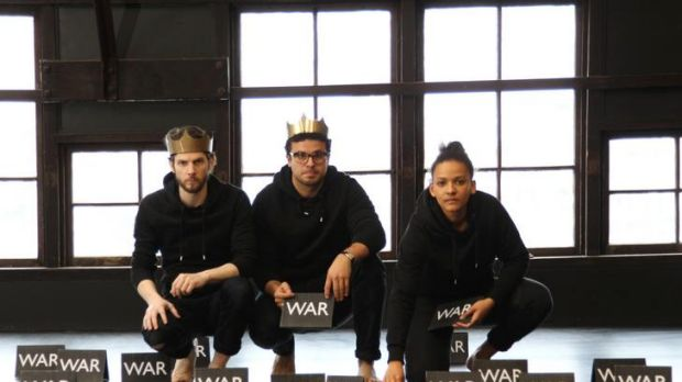 War and pieces ... Cameron Goodall, Tahki Saul and Zindzi Okenyo tackle life, the universe and so on.