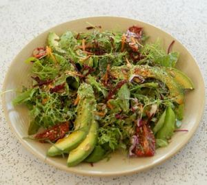 Kitschen Pantry's Big Vegan Salad ... fresh from owner Rhondalee Hunt's potager.