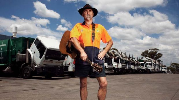 ''Just a garbage man'' … Tamworth Country Music Festival hopeful Terry Lockley's material comes from songs he ...