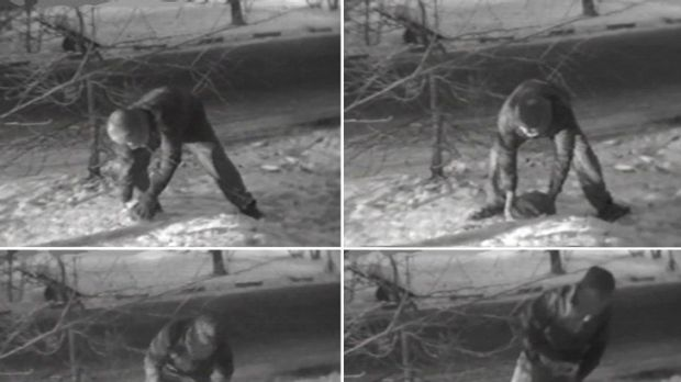 These images from Russian state television purportedly show a member of the British embassy in Moscow removing the 'spy ...