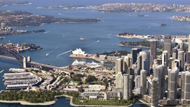 The plan ... an artist's impression of Barangaroo.