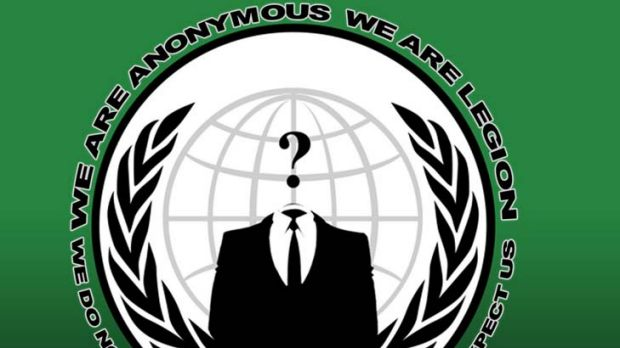 Logo ... hacker group, Anonymous.
