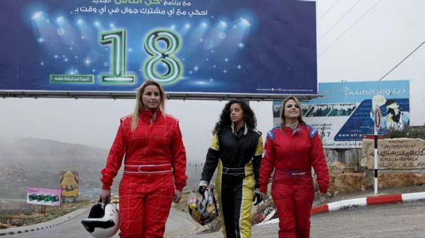 ''We are girls and we are racing'' … the West Bank's all-women Speed Sisters motor sport team, from left, Betty ...