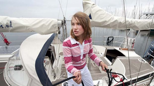 Dutch teenager Laura Dekker who has completed a solo circumnavigation of the world.