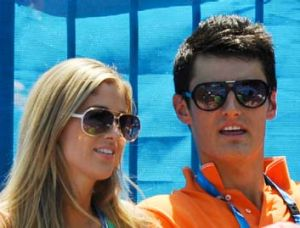 Bernard Tomic with his girlfriend Donay Meijer.
