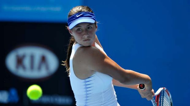 Sara Tomic in action.