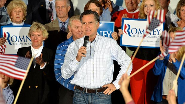 No need for change: Republican presidential candidate Mitt Romney.