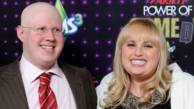 Matt Lucas and Rebel Wilson team up again in <i>Small Apartments</i>.