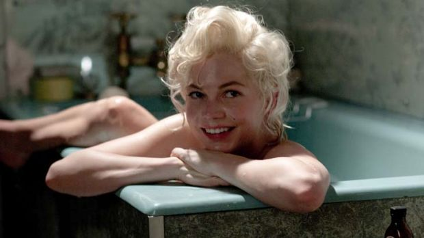 Michelle Williams portrays Marilyn Monroe in a scene from <i>My Week with Marilyn</i>.