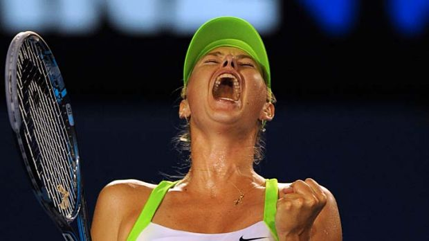 Loud grunter ... Maria Sharapova.