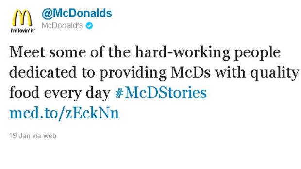 mcdonald s twitter campaign backfires Share on facebook share share on twitter tweet  mcdonald's transparency campaign backfires prepare to be shocked  mcdonald's began a transparency.