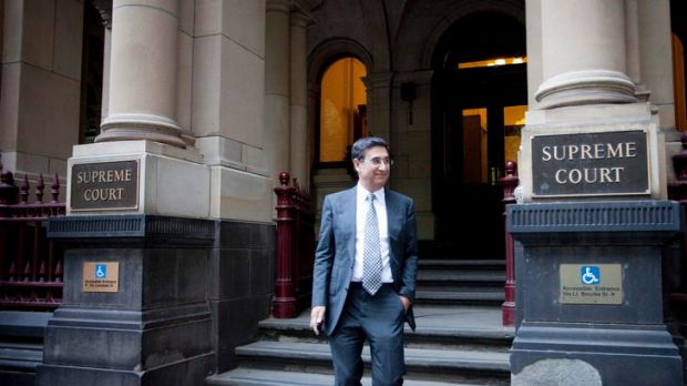 Soheil Abedian, Managing Director of Sunland Group outside the Supreme Court in Melbourne after giving evidence in ...