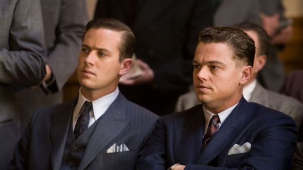 Leonardo DiCaprio (right) as J. Edgar Hoover and Armie Hammer as Clyde Tolson.