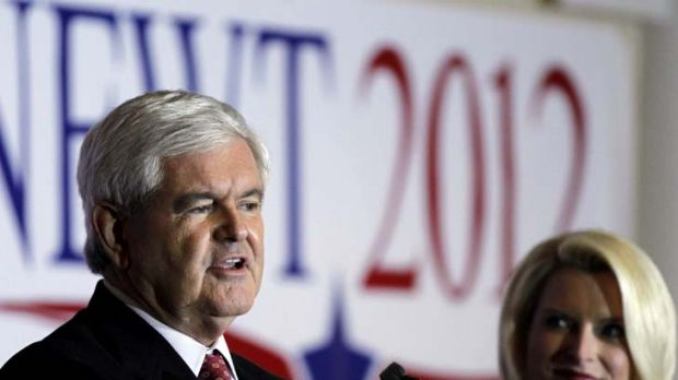 Up and away ... Newt Gingrich wants to go to the moon.