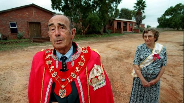 'Prince' Leonard Casley and his wife, 'Princess' Shirley, of the Principality of Hutt River, in the West Australian ...