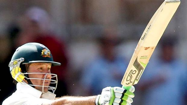 Ricky Ponting breezed to his half-century in the first session.