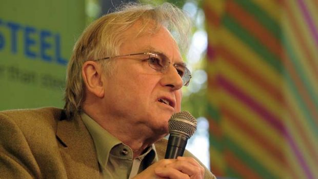 Feud ... Richard Dawkins would rather spend money on secular education than the temple proposed by Alain de Botton.