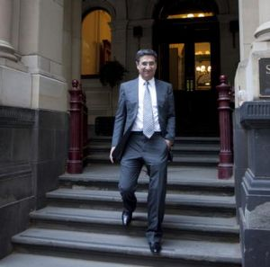 Sunland chairman Soheil Abedian outside the Supreme Court in Melbourne late last year.