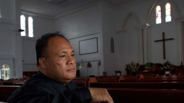 Reverend Sione Pinomi ... fears for his ''poor church''.