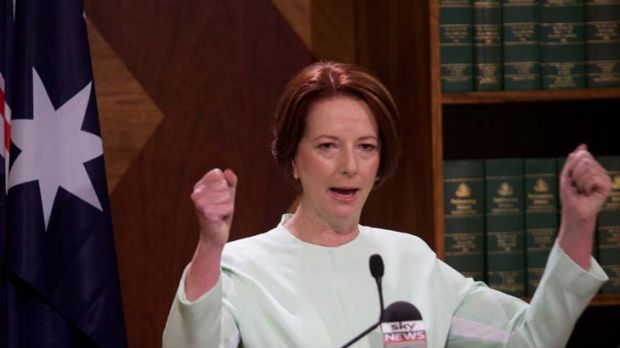 Dramatic days ... Julia Gillard, condemned her sacked staffer yesterday.