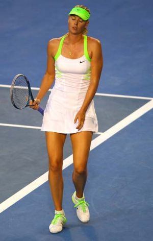 Out of steam ... Maria Sharapova.