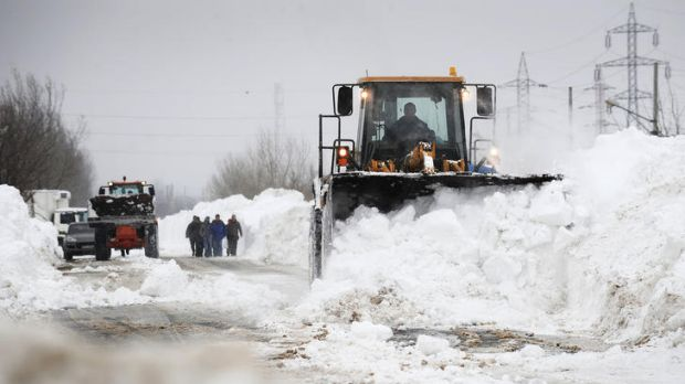 Deadly weather ... eastern Europe has been hit by a severe cold snap.