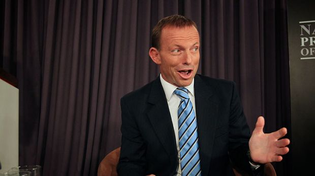 Modestly positive: Opposition Leader Tony Abbott.