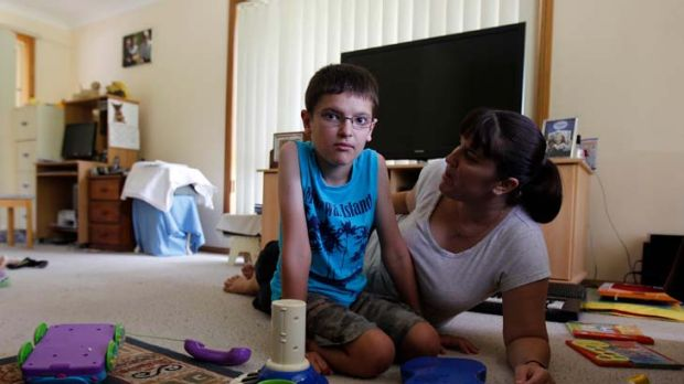 Lifelong suffering ... Debbie Waller says her disabled son, Keeden, 11, would not have been born if she had been warned ...
