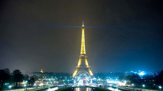 Earth Hour ... the Eiffel tower was submerged into darkness last year.