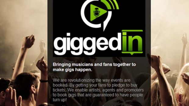 A screenshot of GiggedIN's soon-to-be-released website.