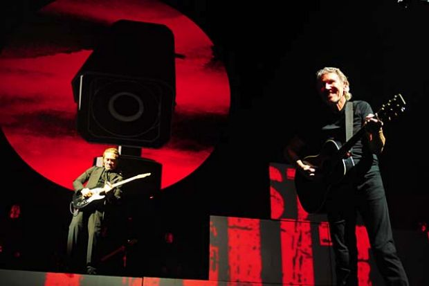 Pink Floyd frontman Roger Waters plays the Brisbane Entertainment Centre. Photo: Leigh Plover